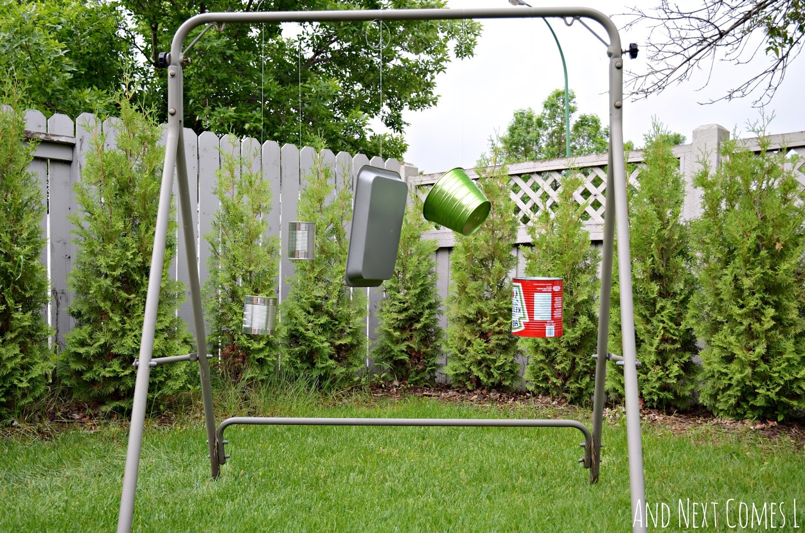 DIY recycled outdoor music station that takes only 10 minutes to make from And Next Comes L