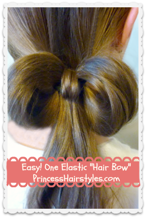 hugh jackman hairstyle : How to make a hair bow with hair using only one elastic!