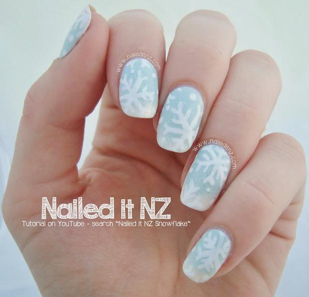 snowflake nail art tutorial 12