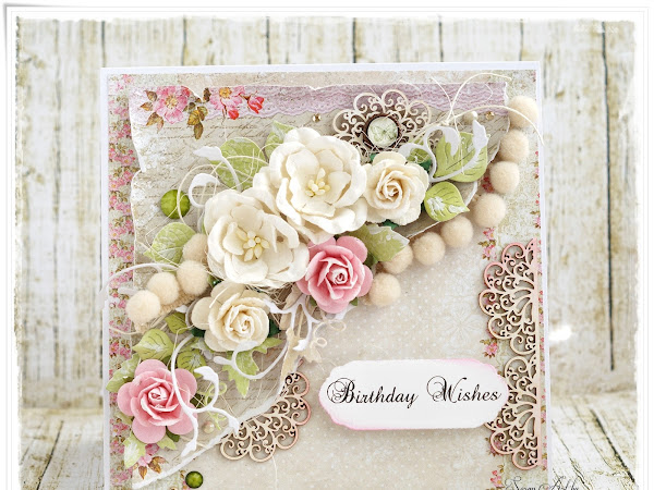 Lemoncraft House Of Roses on Birthday Card