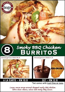 Set 8-Smoky BBQ Chicken Burritos