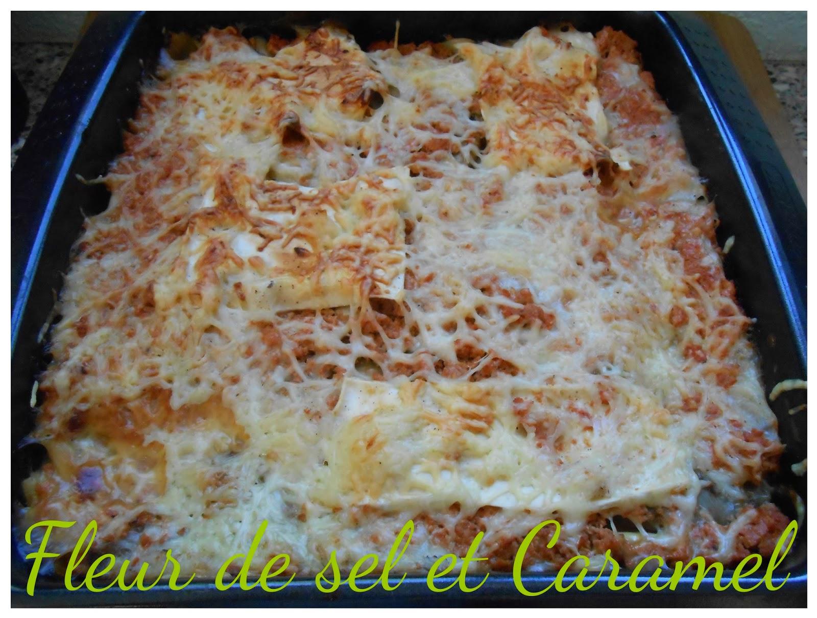 Lasagnes au poulet et aubergines