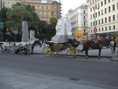 Tourist horse carriages in Vienna
