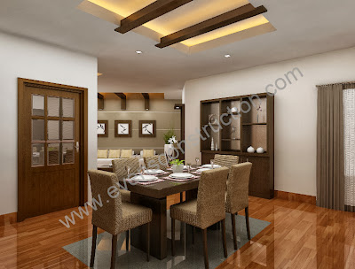 Evens construction pvt ltd dining room for Best living room designs india
