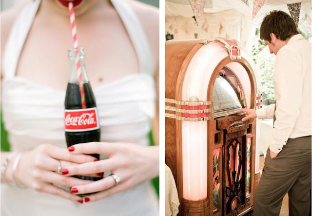 idee per un matrimonio anni 50: jukebox e coca cola