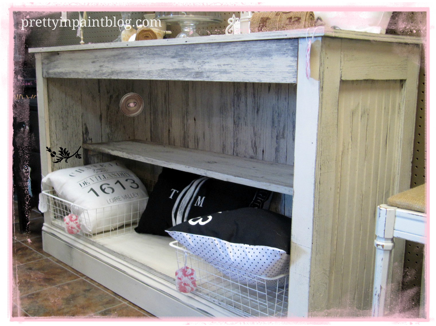 Pretty In Paint: Barn Wood to Custom Furniture {Upcycling