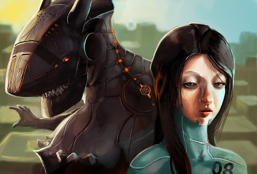 Girl and Mech por Du1l