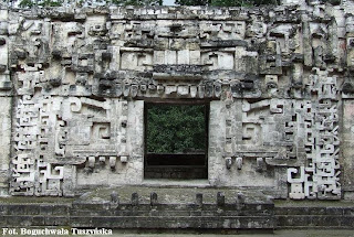 Zoomorphic entrance to Structure II, Chicanna, Campeche, Mexico