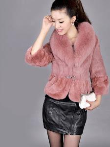 Mặc Phong Cách Cùng áo Khoác Lông Nữ đẹp Hàn Quốc 2015 áo Khoác
