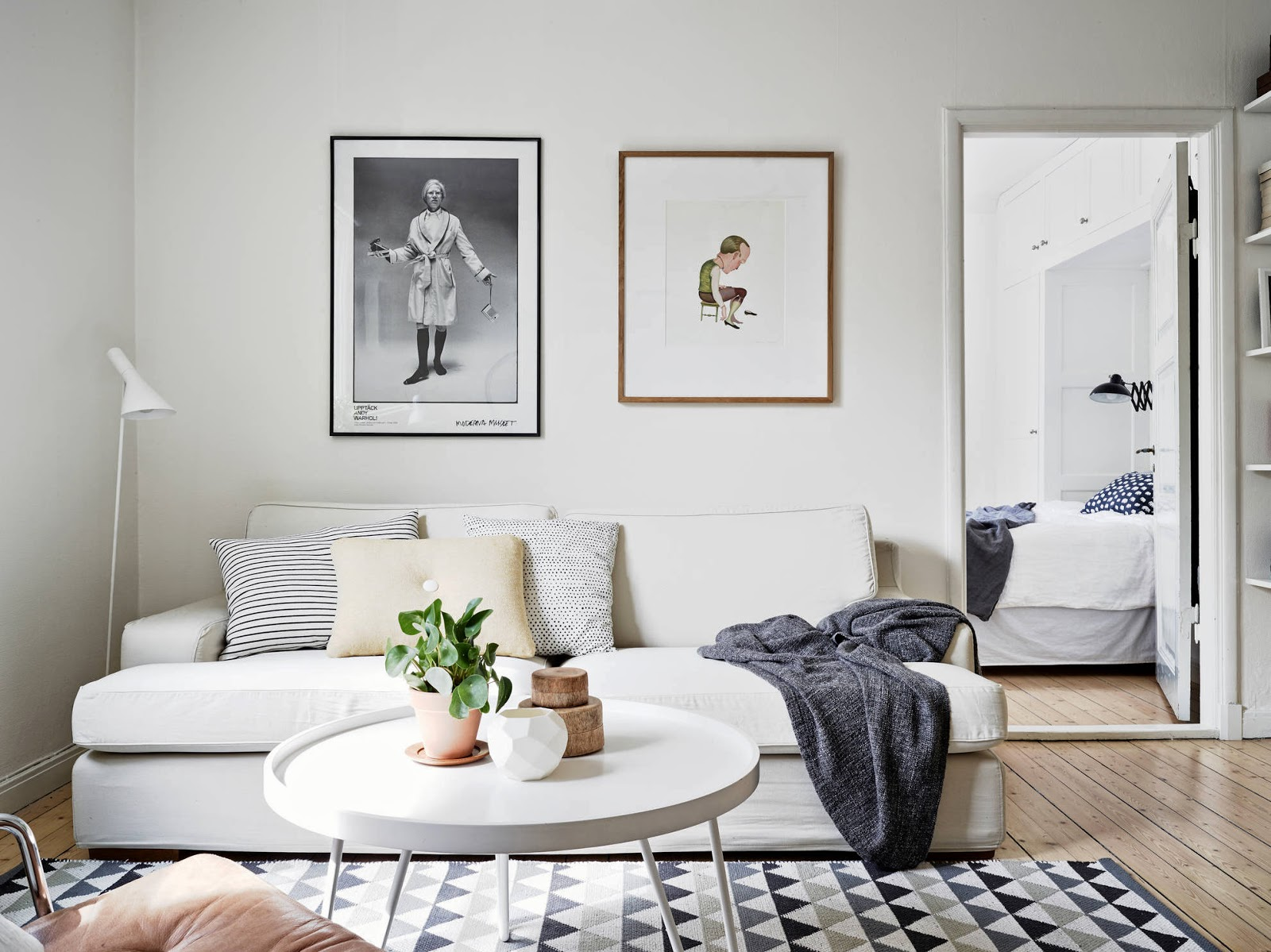 My scandinavian home a very cool swedish space with a bike for Sofa skandinavisches design