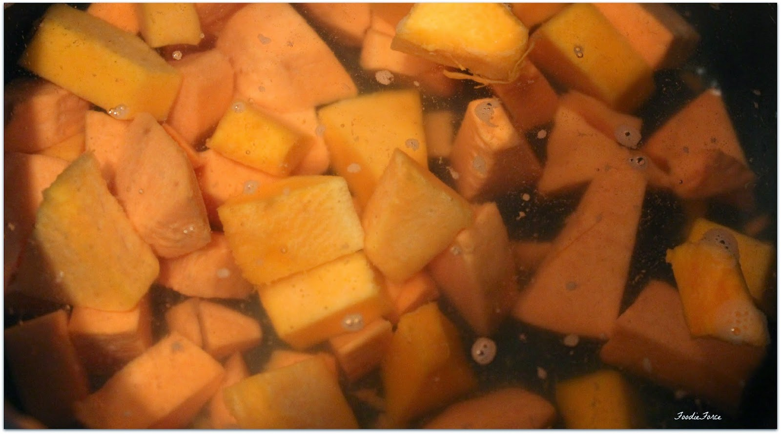 Butternut squash and sweet poato mash