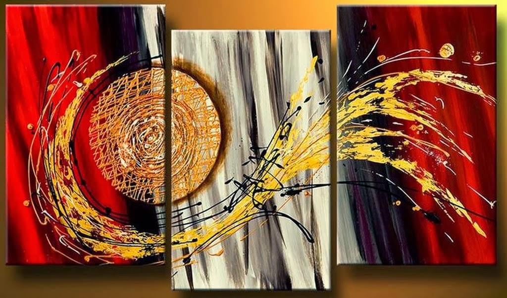 Cuadros modernos pinturas y dibujos cuadros tr pticos - Pinturas acrilicas modernas ...