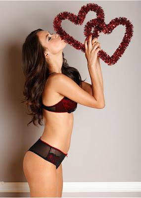 Asha Leo BonPrix sexy lingerie models photoshoot
