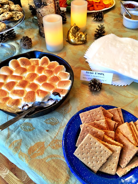 S'more dessert - camping themed bridal shower