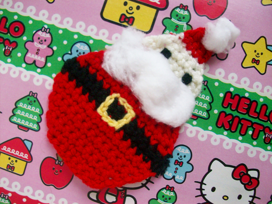 MooeyAndFriends: Santa Coaster Crochet Pattern ? 12 Days ...