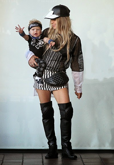 Fergie with a toddler Axel