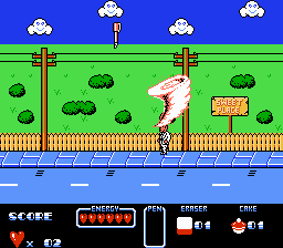 Cool world NES game tornado