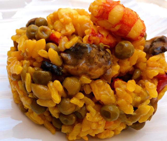arroz, champiñones, guisantes, arroz verduras, receta, olla rápida, fc