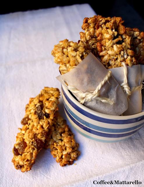 barrette energetiche ai cereali homemade