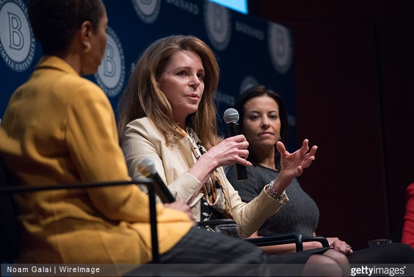 Helene Gayle, Her Majesty Queen Noor of Jordan and Dina Powell attend Barnard College's 7th Annual Global Symposium at Barnard College
