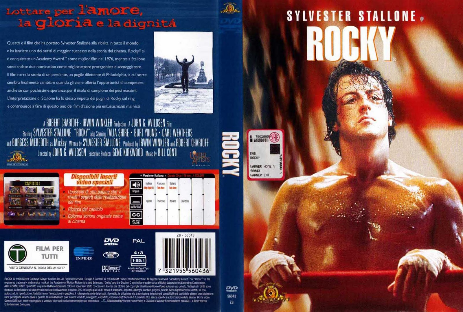 Rocky Balboa (2006) R1 - Movie DVD - CD Label, DVD Cover, Front Cover