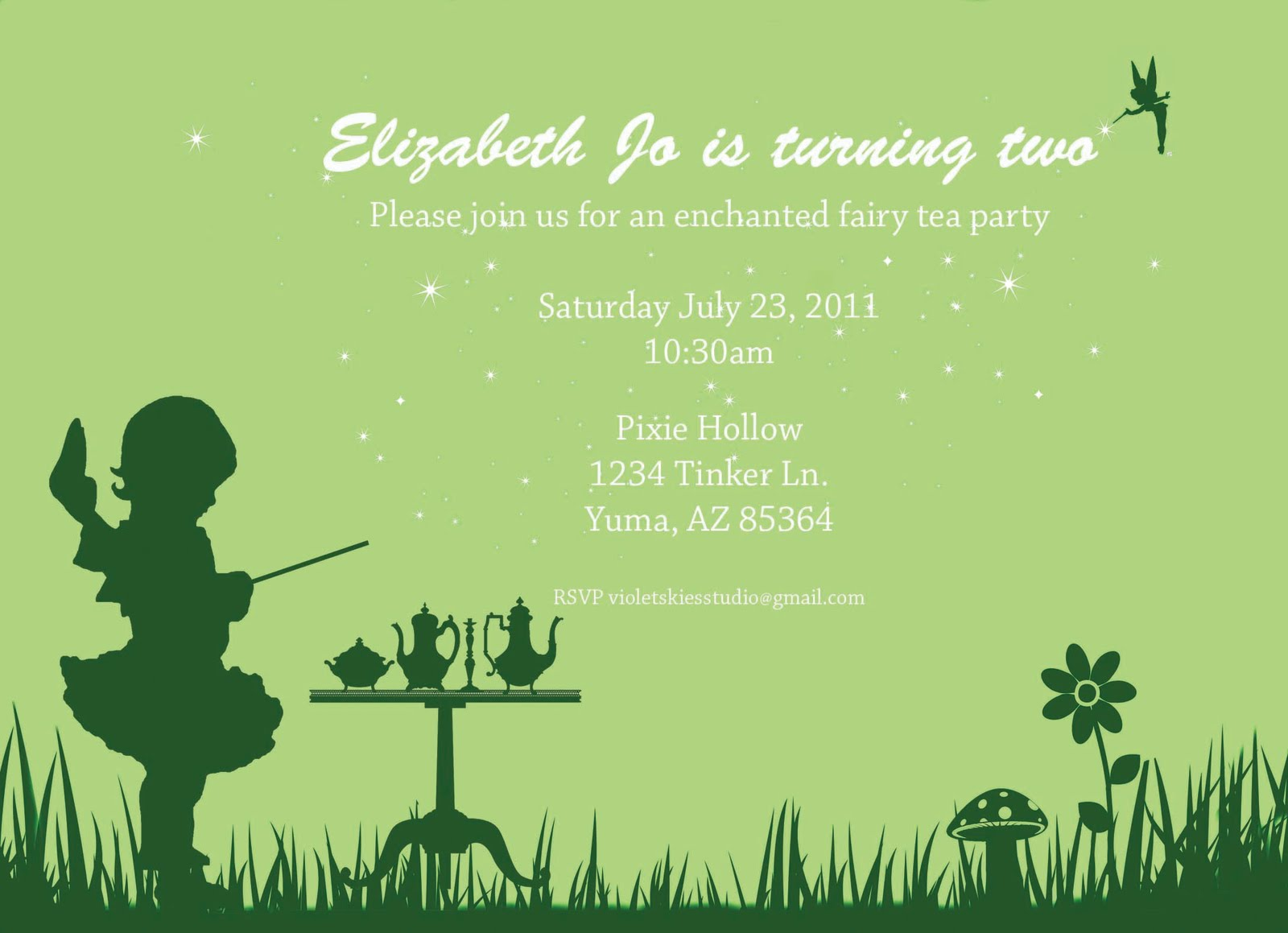 Fairy Tea Party – Fairy Tea Party Invitations