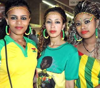BEAUTIFUL ETHIOPIA GIRLS AT AFCON SOUTH AFRICA