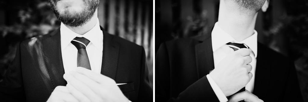 Brudgum knyter slips
