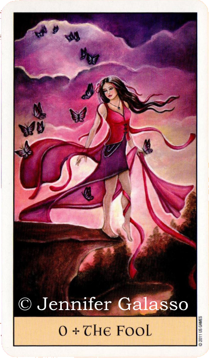 Crystal Visions Tarot, The Fool, Jennifer Galasso