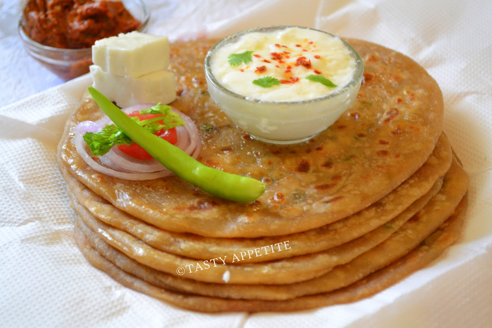 18. Healthy & tasty mouthwatering parathas are ready to relish.