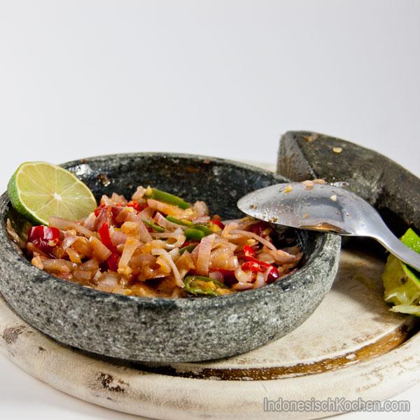 Rohes Sambal Typisch Bali rezept
