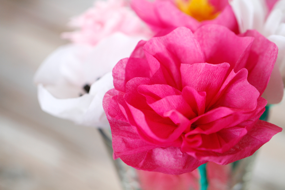 Creativity unmasked easy diy crepe paper flowers easy diy crepe paper flowers mightylinksfo