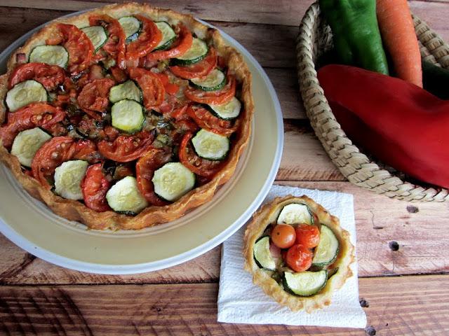 Una pincelada en la cocina tarta de hojaldre con verduras - Moscas pequenas cocina ...