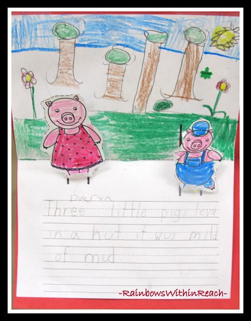 photo of: Pop-Up Piggy Writing via RainbowsWithinReach