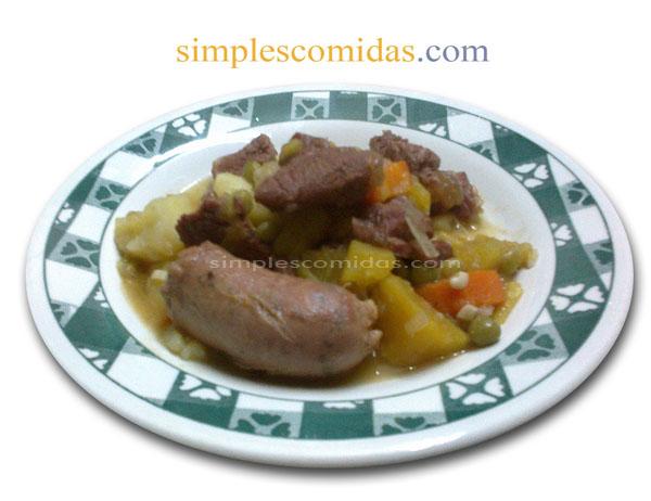 Receta Estofado de Carne y Chorizo