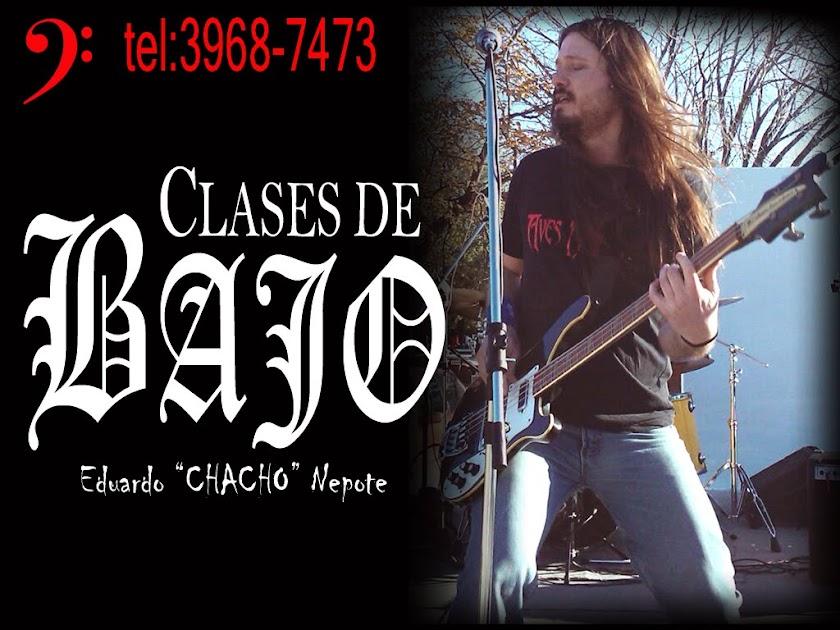 "CLASES DE BAJO: Eduardo ""Chacho"" Nepote"