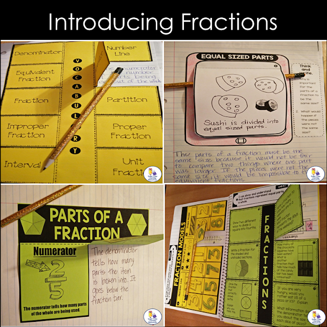Get your students drawing and writing while discovering fractions!