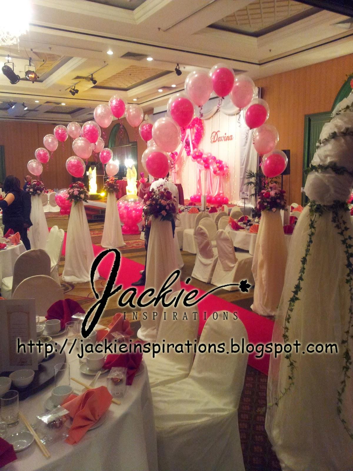 Balloon decorations for weddings birthday parties balloon romantic wedding decoration grand margherita kuching junglespirit Gallery