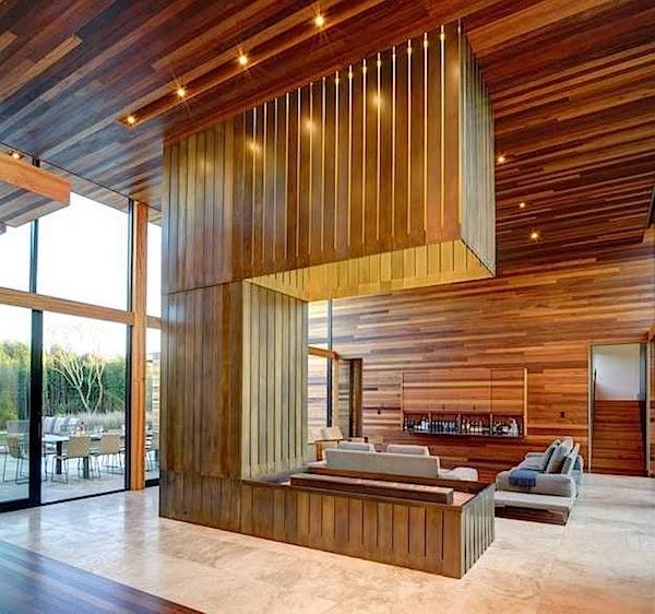 desain atap rumah plafon kayu simple menarik minimalis 1