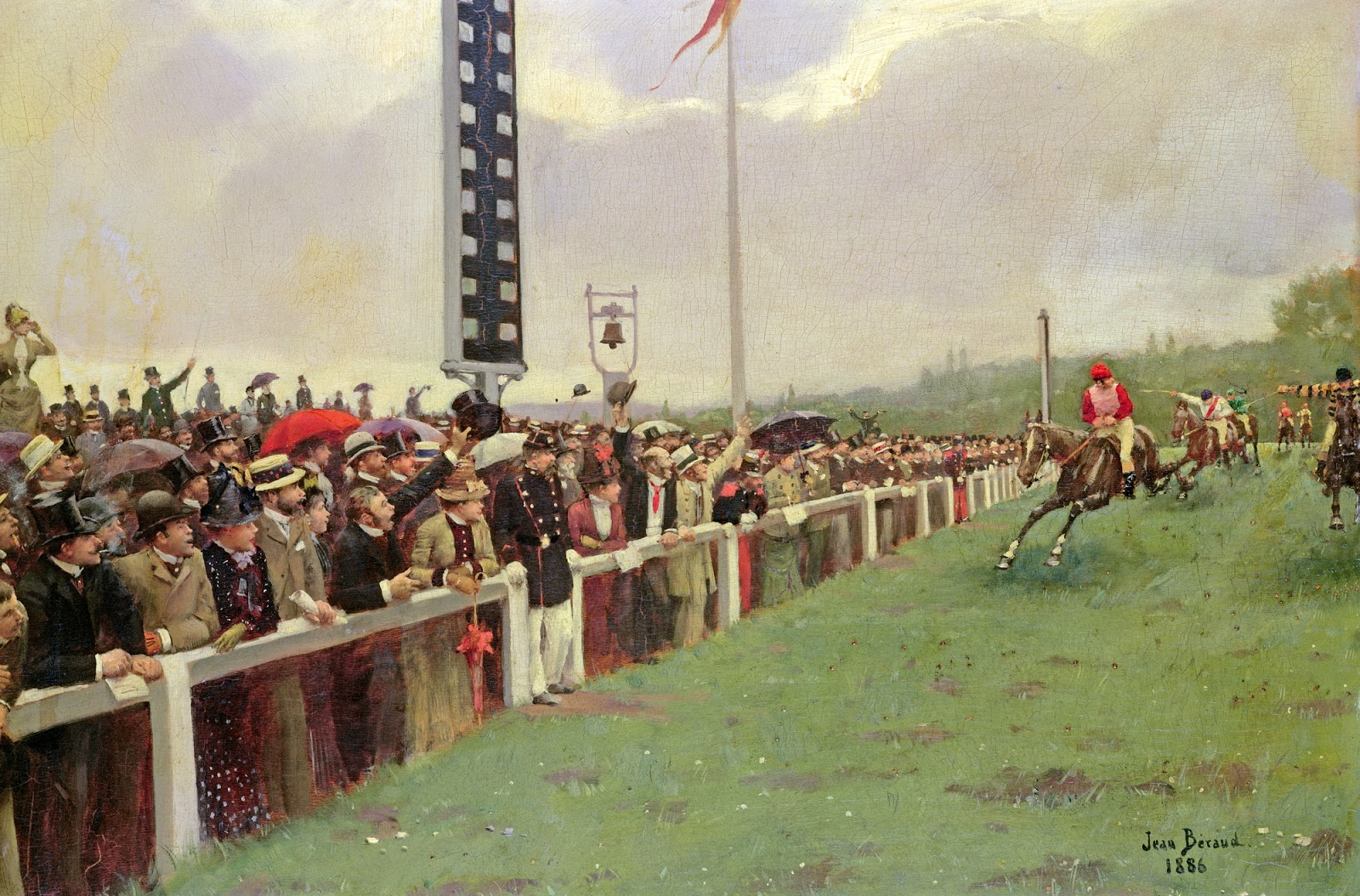 Jean    C Araud    Entrance  The  races  at  Longchamps C
