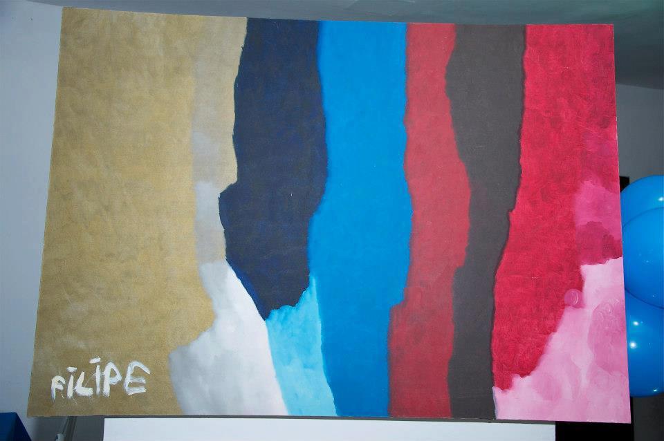 Pintura de Filipe Melo e poesia da Poetiza Ana Martins  do blog AVE SEM ASAS para ele.
