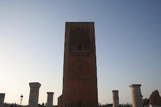 Vista de  la Torre de Hassan. Rabat. Julio 2011.