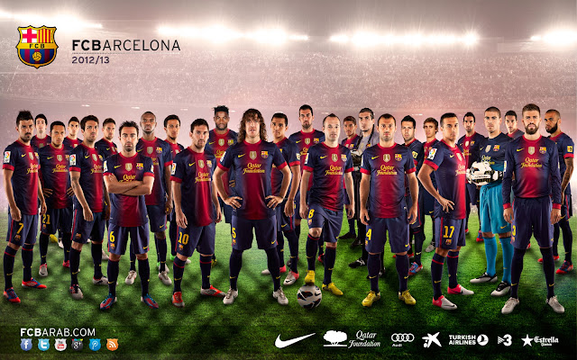 Fc Barcelone 2012 - 2013 Wallpaper HD
