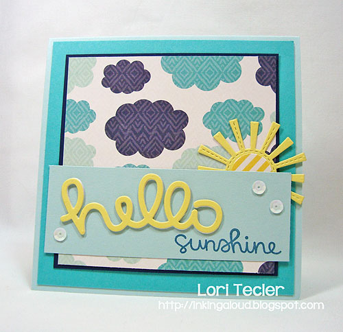 Hello Sunshine-designed by Lori Tecler-Inking Aloud-stamps and dies from Lawn Fawn