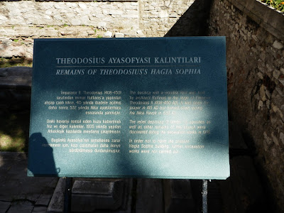 Description on information plate, place of excavations near Hagia Sophia, Istanbul