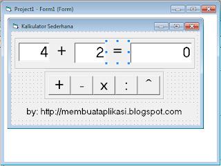 Contoh Program Kalkulator Sederhan Dengan Visual Basic 6.0