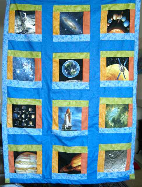 Lillybo quilts quilt from outer space for Outer space quilt