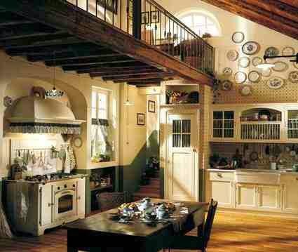 Przytulna kuchnia urządzona w klimacie rustykalnym