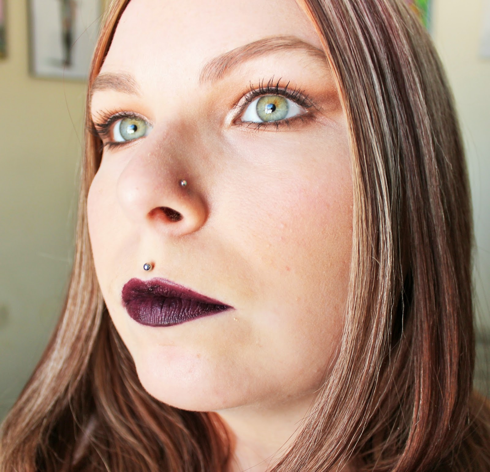 Nyx Matte Lip Cream Transylvania Swatch FOTD Colour Pop Makeup Geek