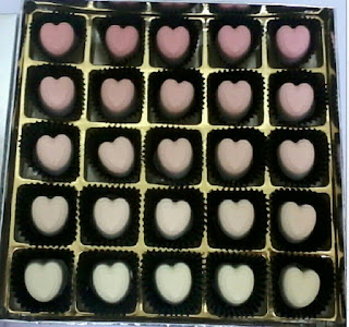 25pcs chocolate praline ombre pink